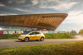 gold nissan car gold athlete rewarded with golden nissan leaf for rio success