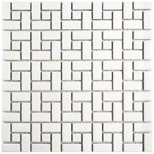 Victorian Mosaic Floor Tiles Somertile X Inch Victorian Trend Peel And Stick Floor Tile With