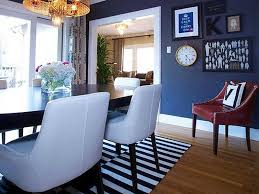 fabulous retro blue dining room decors with wall shelves hang on