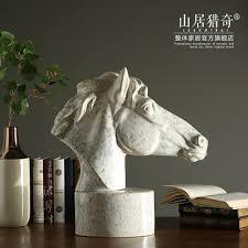 oggetti decorativi casa oversize in ceramica testa di cavallo figurine decorazioni per la