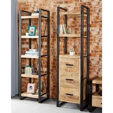 furniture home wood and metal 4 tier 65 etagere bookcase design
