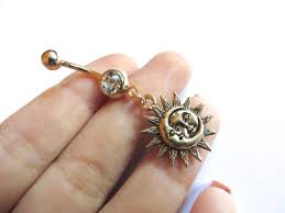 belly button ring jewelry celestial belly button ring golden