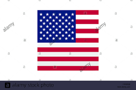 American Flag Design Pictogram American Flag Cube Square Flat Design Object Symbol
