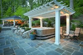 Patio Half Wall Diy Tub Deck Contemporary With Half Wall Craftsman