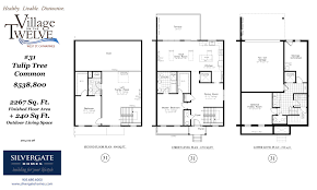 common house floor plans silvergate homes 2267 sq feet tulip tree common silvergate homes