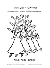 12 christmas coloring book