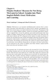filipino students u0027 reasons for not being motivated in