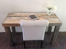 cabine de plage bois récupération de bois bureau rustique moderne travail table