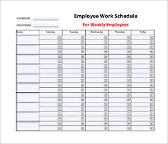 weekly work schedule template 8 blank monthly employee schedule