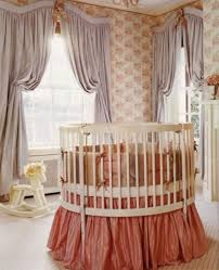 Nursery Decoration Ideas by Bedroom White Round Cribs With Chandelier And Dresser For Nursery