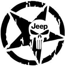 jeep decals jeep star decal wrangler tj jk rubicon hood fender punisher sticker
