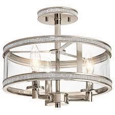 Flush Ceiling Lights For Bedroom Lamps Flush Mount Cage Light Low Profile Flush Mount Light