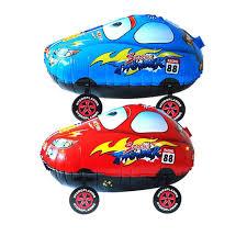 style red blue cars cartoon mq foil balloons toys walk