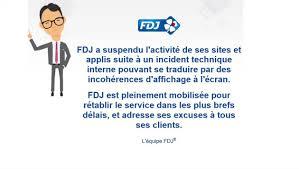 si e fran ise des jeux le site de la française des jeux fdj et parions sport indisponibles
