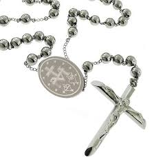 catholic rosary necklace catholic men rosary pray necklace stainless steel 8 mm