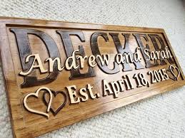 Wooden Wedding Gifts 3d Woodworker Personalized Family Name Signs U0026 Wooden Wedding Gifts
