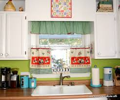 Retro Kitchen Curtains 1950s by Diy Upcycled Vintage Tea Towel Christmas Curtains My So Called