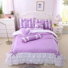Types Of Duvet Princess Show Cotton Lace Bed Skirt Quilt Cover Pillowcase Bed