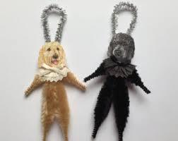 dogs chenille ornaments ornaments