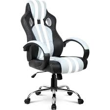 Racing Office Chairs Pu Leather U0026 Mesh Racing Office Chair Grey Stripe Buy Gaming