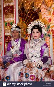 indonesian brides indonesia sulawesi sidereng village bride and groom at muslim