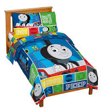 Thomas The Train Twin Comforter Set Amazon Com Thomas And Friends 4 Piece Toddler Bed Set Home U0026 Kitchen