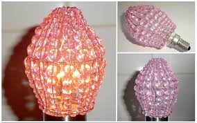 Moroccan Crystal Chandelier Crystal Chandelier Inspired Glass Lightbulb Candle Bulb Cover Pink