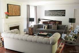 Two Different Sofas In Living Room Two Sofa Living Room Design Gray Living Room With A Two Sofa