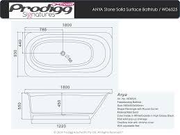 Solid Surface Bathtubs Anya 180cm Istone Solid Surface Bathtub Drop In Baths