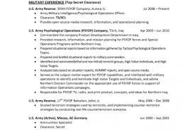 Sample Army Resume by Sample Resume For Army Soldier Reentrycorps