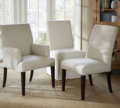 PB Comfort Square Upholstered Chair Pottery Barn - Cushioned dining room chairs