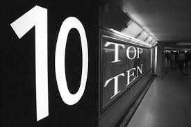 today my top ten blogs