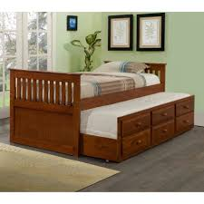 Captains Bed Twin Size Bedroom Captain Bed With Trundle Captains Bed Twin With Drawers