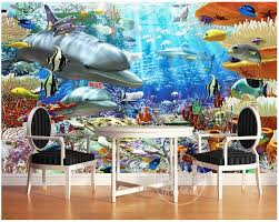compare prices on underwater wall murals online shopping buy low custom 3d photo wallpaper 3d wall mural wallpaper three dimensional underwater dolphin 3 d mural
