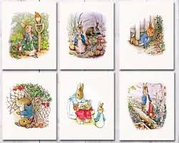 Beatrix Potter Nursery Decor Rabbit Nursery Beatrix Potter Nursery Decor Set Of Six