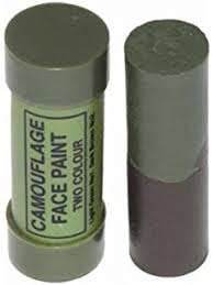 2 x pack of camo face paint sticks camouflage olive green and