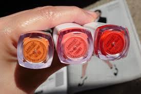 ooh la la neige water drop tints review of peach coral neon pink