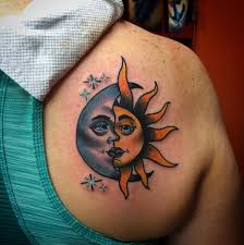 depiction gallery tattoos feminine sun and moon