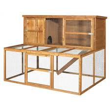 buy a double rabbit hutch and run 2 tier from the pet warehouse