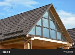 modern house attic metal roofing image u0026 photo bigstock