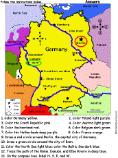 geographical map of germany europe enchantedlearning