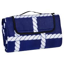 Camping Outdoor Rugs by Folding Fleece Waterproof Picnic Blanket Outdoor Mat Rug Carry Bag
