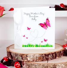 Mother Day Card by Personalised Butterfly Mothers Day Card By Made With Love Designs