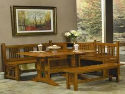 Wooden Table With Bench Dining Table With Bench And Chairs Treenovation Tables Benches For