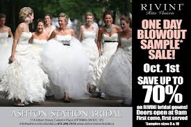 wedding gown sale rivini one day out sle wedding dress sale