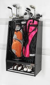 Garage Golf Bag Organizer - golf bag storage ideas storage decorations
