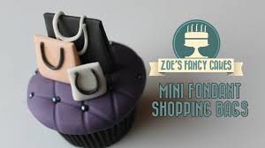 mini fondant shopping bags miniature gum paste cake toppers how to