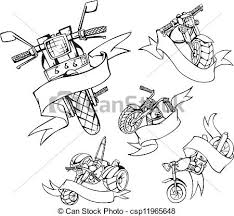 motorcycle templates with ribbons motorcycle templates with