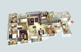 4 Bedroom Floor Plans For A House 50 Four U201c4 U201d Bedroom Apartment House Plans Bedroom Apartment