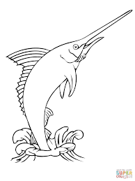 awesome free printable marlin fish coloring pages kids